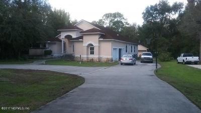 St Augustine Single Family Home For Sale: 8153 6 Mile Way