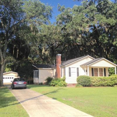 Jacksonville Single Family Home For Sale: 2928 Algonquin Ave
