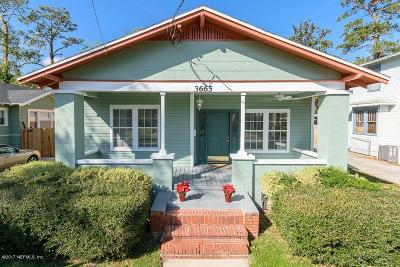 Jacksonville Single Family Home For Sale: 3665 Oak St