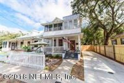 St Augustine Single Family Home For Sale: 131 M L King Ave