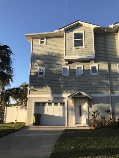 Jacksonville Beach Townhouse For Sale: 107 17th Ave S #B