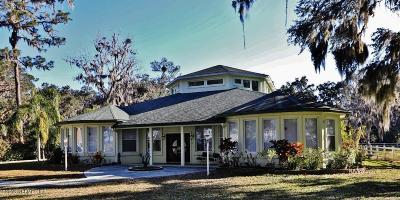 St Augustine Single Family Home For Sale: 10536 County Road 13 N