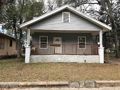 Duval County Single Family Home Contingent Take Backup: 1119 E 12th St