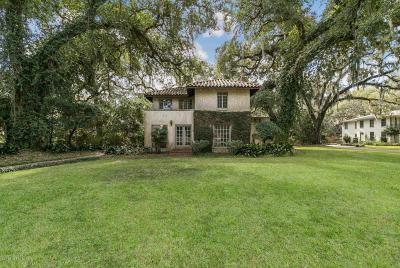 Jacksonville Single Family Home For Sale: 3764 Ortega Blvd