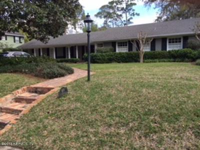 Duval County Single Family Home For Sale: 4619 Algonquin Ave
