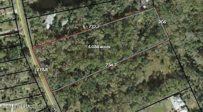 St. Johns County Residential Lots & Land For Sale: S Roscoe Blvd