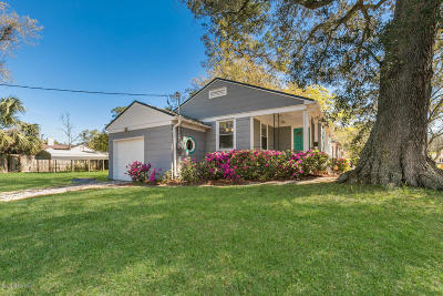 Duval County Single Family Home For Sale: 1503 Pershing Rd