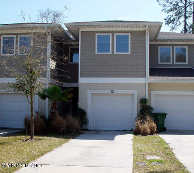 Jacksonville Beach Townhouse For Sale: 1404 4th Ave N #D