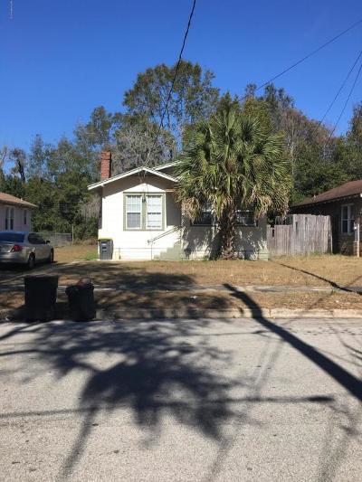 Jacksonville FL Single Family Home For Sale: $52,900