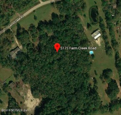 Residential Lots & Land For Sale: 5175 Farm Creek Rd
