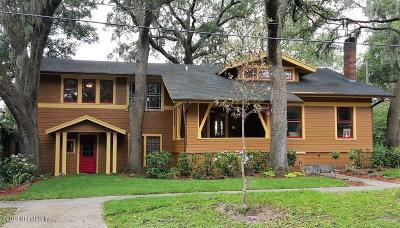 Jacksonville Single Family Home For Sale: 1776 Canterbury St