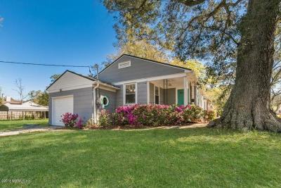 Jacksonville Single Family Home For Sale: 1503 Pershing Rd