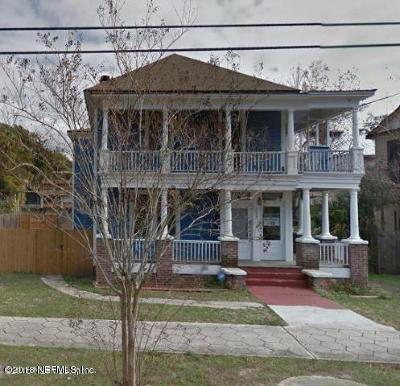 Jacksonville Single Family Home For Sale: 1309 N Market St