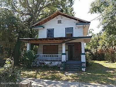 Jacksonville Single Family Home For Sale: 234 W 19th St