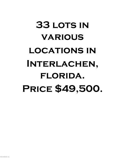 Interlachen FL Residential Lots & Land For Sale: $49,500