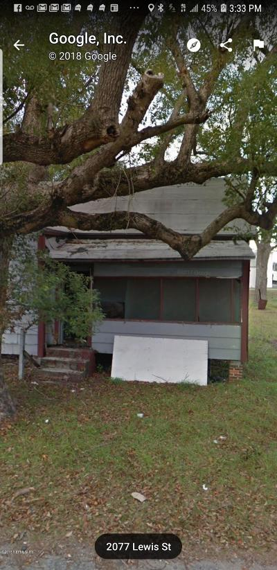 Jacksonville Single Family Home For Sale: 1585 W 35th St