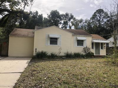 Jacksonville Single Family Home For Sale: 2424 Ridgewood Rd