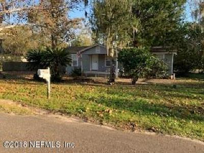 Jacksonville FL Single Family Home For Sale: $117,000