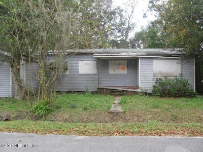 Jacksonville FL Single Family Home For Sale: $35,000