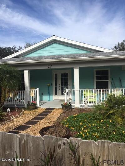Flagler County Single Family Home For Sale: 27 Malacompra Rd