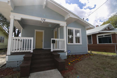 Jacksonville Single Family Home For Sale: 138 W 21st St