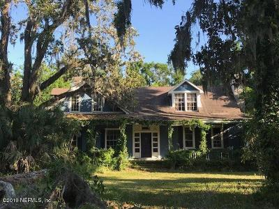 St Augustine Single Family Home For Sale: 115 Bridge St