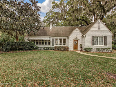 Jacksonville Single Family Home For Sale: 3444 Randolph St
