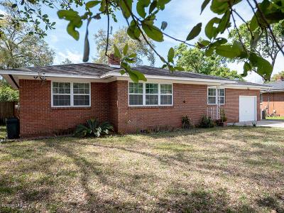 Jacksonville Single Family Home For Sale: 3924 Ponce De Leon Ave