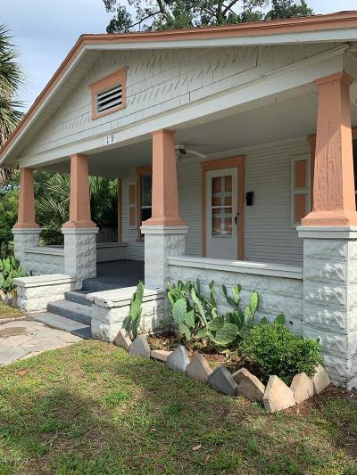 Jacksonville Single Family Home For Sale: 119 W 30th St