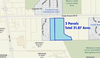 St. Johns County Residential Lots & Land For Sale: State Road 206