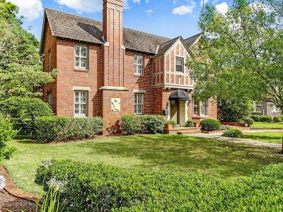 Jacksonville Single Family Home For Sale: 3859 Arden St