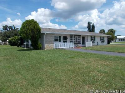 Edgewater Single Family Home For Sale: 1001 W Indian River Boulevard
