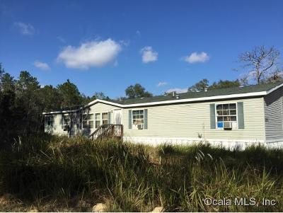 Dunnellon Mobile/Manufactured For Sale: 7505 SW 152nd Place