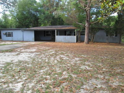 Dunnellon FL Single Family Home Sold: $38,000