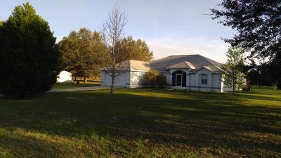Morriston Single Family Home For Sale: 17790 SE 60th Lane
