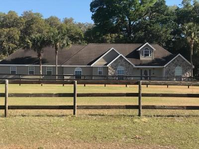 Morriston Single Family Home For Sale: 19950 SE 15th Place