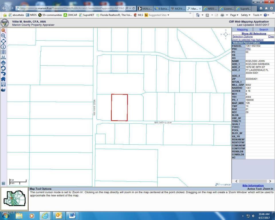 Ocala Florida Map.Nw 54th Loop Ocala Fl Mls 517104 Spruce Creek Realty