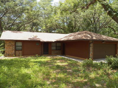 Dunnellon Single Family Home For Sale: 3500 SW Shorewood Drive