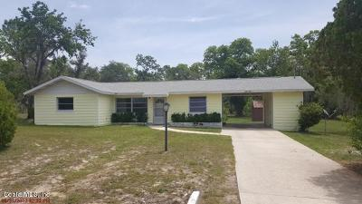 Dunnellon Single Family Home For Sale: 2311 SW Paradise Heights Road