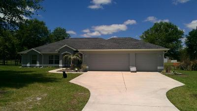 Dunnellon Single Family Home For Sale: 790 NW 165th Ct Road