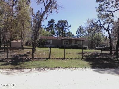 Morriston Single Family Home For Sale: 13910 SE 25th Court