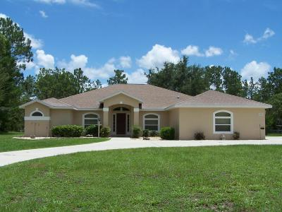 Dunnellon Single Family Home For Sale: 8800 SW 205th Circle