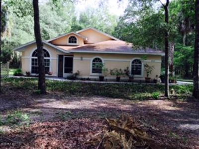 Dunnellon Single Family Home For Sale: 18425 SW 77th Place Road