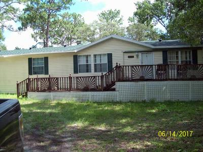 Dunnellon Mobile/Manufactured For Sale: 3075 SW 186th Court