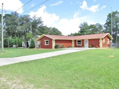 Crystal River Single Family Home For Sale: 5561 W. Alameda Ln