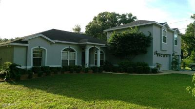 Dunnellon Single Family Home For Sale: 11720 Camp Drive