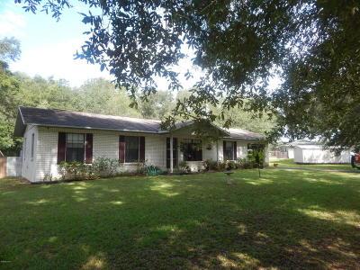 Williston FL Single Family Home For Sale: $139,000