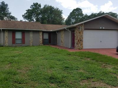 Dunnellon Single Family Home For Sale: 20104 SW Rainbow Lakes Blvd.