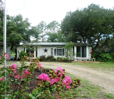 Dunnellon Single Family Home For Sale: 9350 N Cedar Cove Road