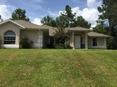 Dunnellon Single Family Home For Sale: 20381 SW 77th Street